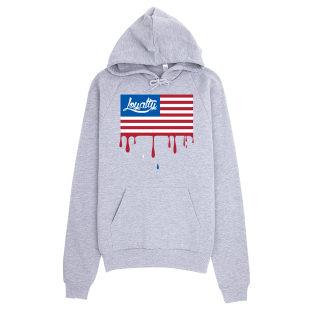 Loyalty American Flag Drip Pullover Hoodie - Devious Elements Apparel