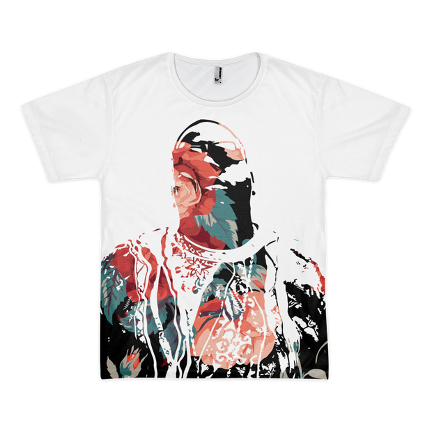 Biggie Floral Roses All Over Print T-shirt - Devious Elements Apparel