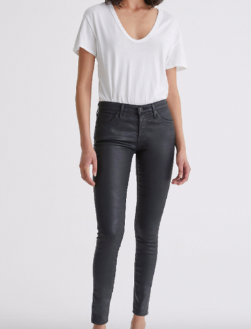 AG JEANS THE LEATHERETTE LEGGING ANKLE IN BLACK