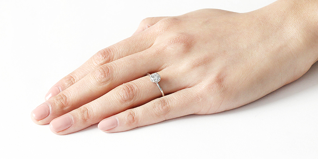 Cati Ring / Salt + Pepper Diamond