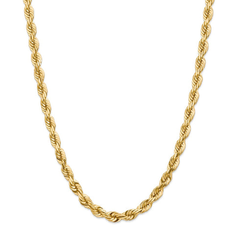 14k 7mm D/C Rope Chain