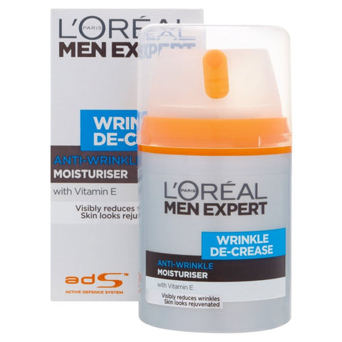 L'Oreal Paris Men Expert Wrinkle De-Crease Moisturiser 50ml