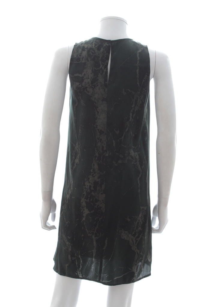 Balenciaga Marble-Print Silk Dress