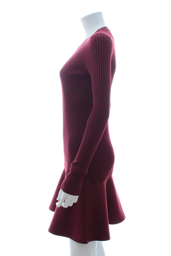 Stella McCartney Ribbed Knit Flared-Skirt Dress