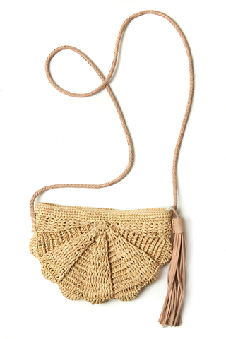 Zoe Shoulder Purse in Natural