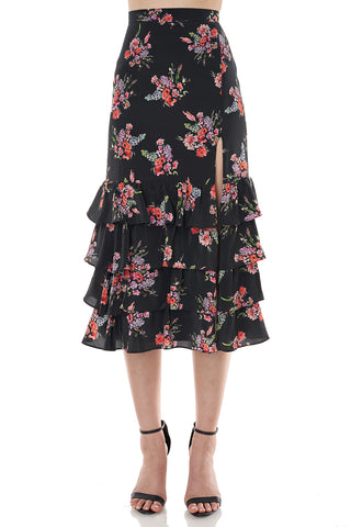 Faith Skirt in Black Floral