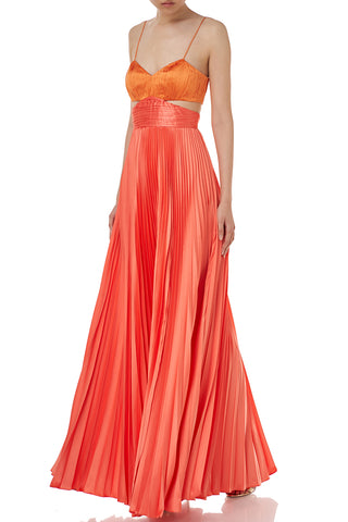 Elodie Gown in Peach