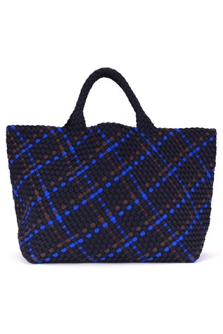 St Barths Large Tote Bag in Ink, Charcoal & Cobalt