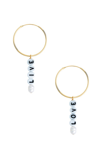TTYL Hoop Earrings Live Love