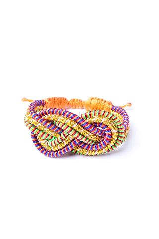 Twisted Knot Stripe Bracelet in Multi