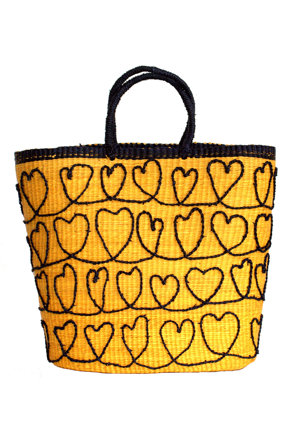 Corazones Tote Bag in Yellow & Black