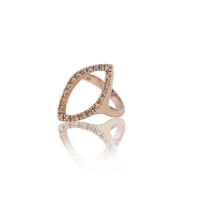 14K Rose Gold Marquis Ring by Cristina Ramella