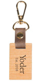 Wooden Rectangle Key Chain