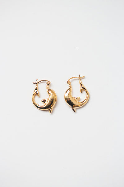 Dolphin Hoop Earrings - shoparo