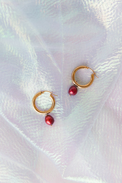 Pearl Charms for Hoop Earrings