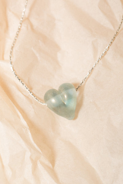 Love Necklace in Blue Shimmer