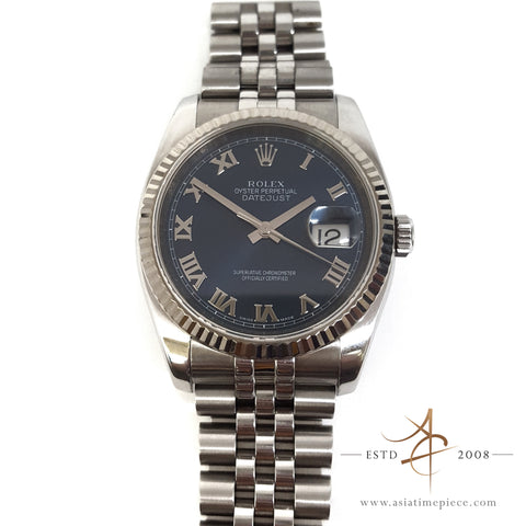 Rolex Datejust 116234 Stainless Steel Watch Blue Dial (Year 2008)