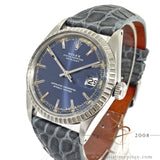 [Rare] Rolex Datejust 1601-3 Blue Sigma Dial Vintage Watch (1969)