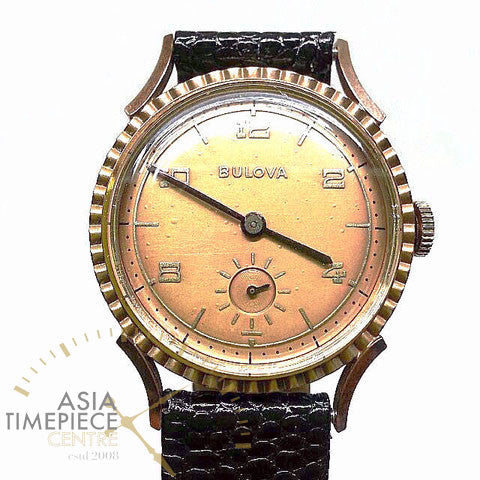 Bulova Vintage Sub Second Winding Watch 14k Gold Filled