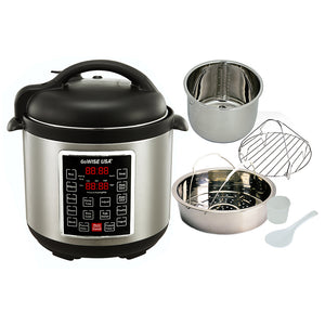 3.7-Quart Dial Control Air Fryer (Black) + 10-in-1 Electric Pressure Cooker - GoWISE USA