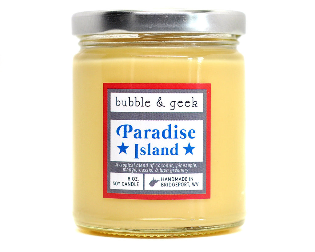 Paradise Island Scented Soy Candle Jar