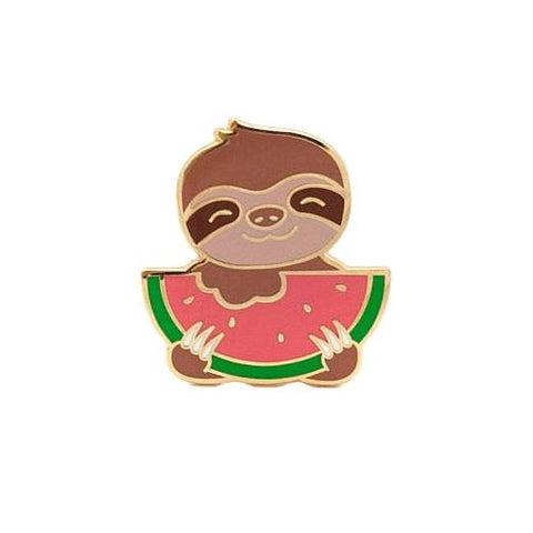 Sloth-er-melon Enamel Pin