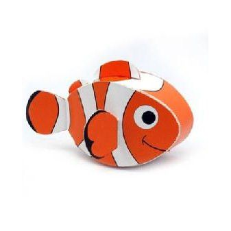 Clownfish DIY Paper Toy Postcard #042
