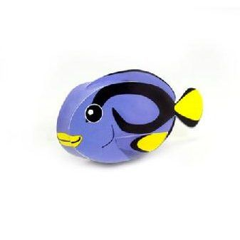Blue Surgeonfish DIY Paper Toy Postcard #046