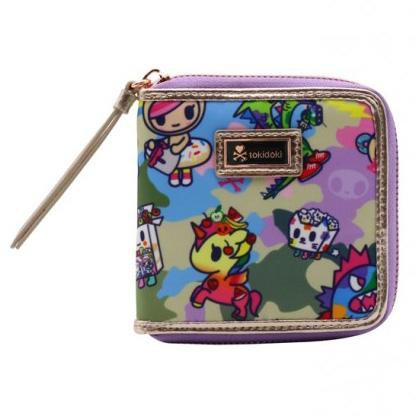 Camo Kawaii Small Zip-Around Wallet by Tokidoki