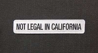 ILLEGAL IN CALIFORNIA MORALE PATCH - Tactical Outfitters