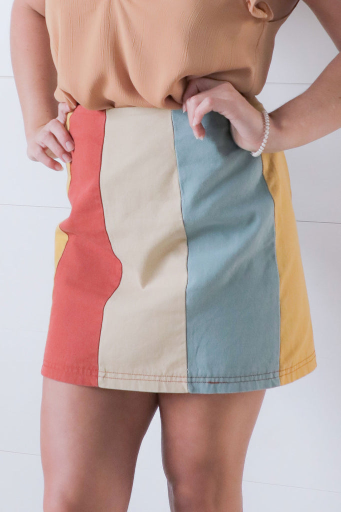 Goodluck Charlie - Colorblock Skirt - Ty Alexander's Bottoms Collectoin