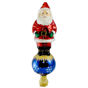 Old World Christmas Santa Tree Top Tree Topper / Finial