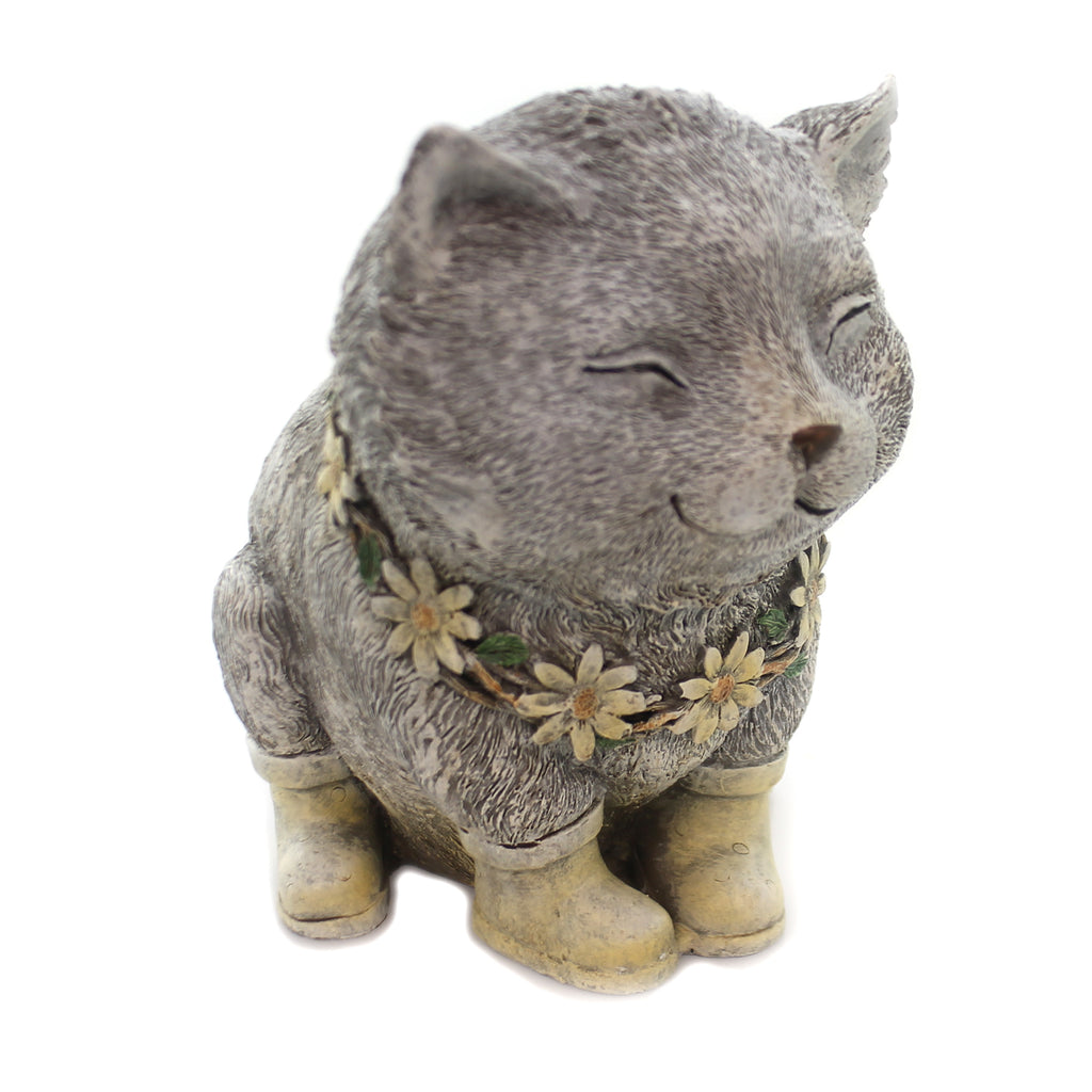 Home & Garden RAINY DAY PUDGY CAT Polyresin Kitten Boots Daisy 11318