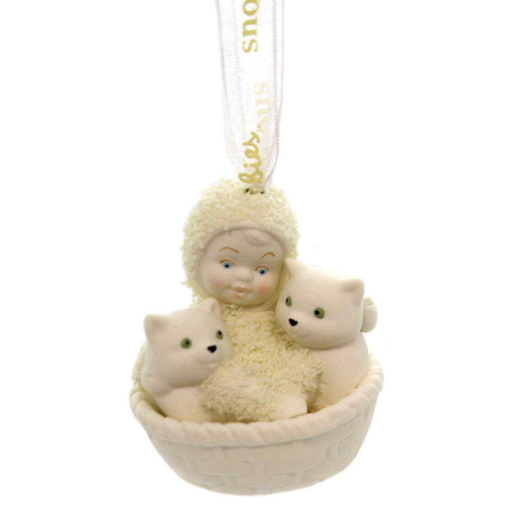 Dept 56 Snowbabies BASKET OF KITTENS ORNAMENT Porcelain Christmas 6001988