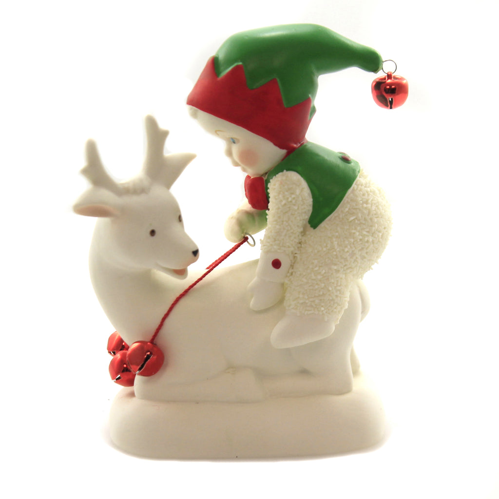 Dept 56 Snowbabies QUIT ELFIN' AROUND Christmas Reindeer Bells 6004216
