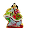 Christopher Radko Sleighful O'sweets Glass Ornament