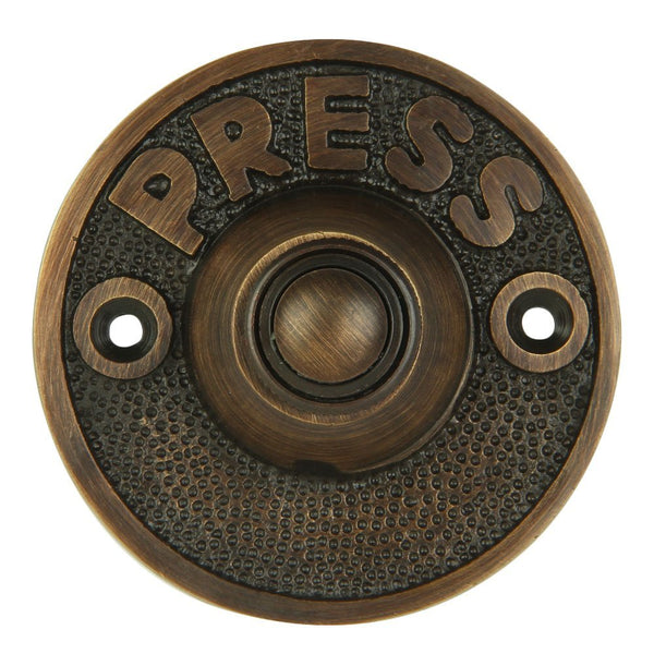 A29 Bell Push Button, Oil Rubbed Bronze Finish