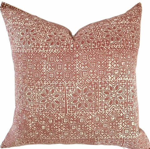 Pillow - Vintage Batik Rust