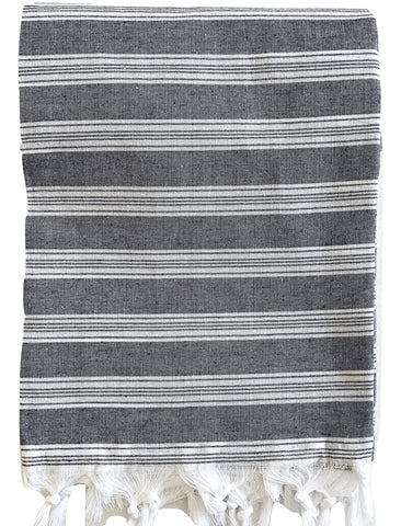 Turkish Towel - Charcoal