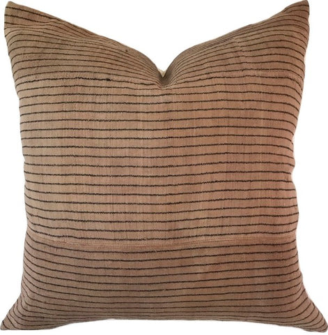 Pillow - Vintage Hmong Brown with Stripes