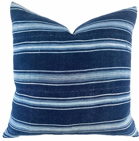 Pillow - African Indigo Stripes