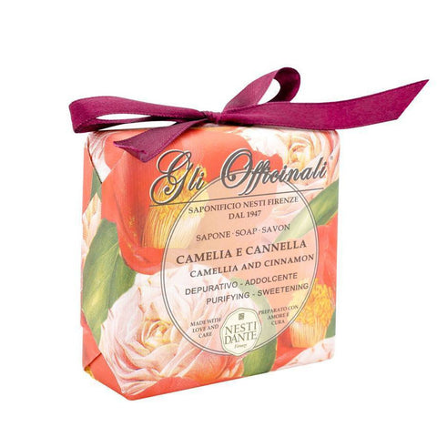 NESTI DANTE Gli Officinali - Camellia and Cinnamon Bar Soap - MerryBath.com