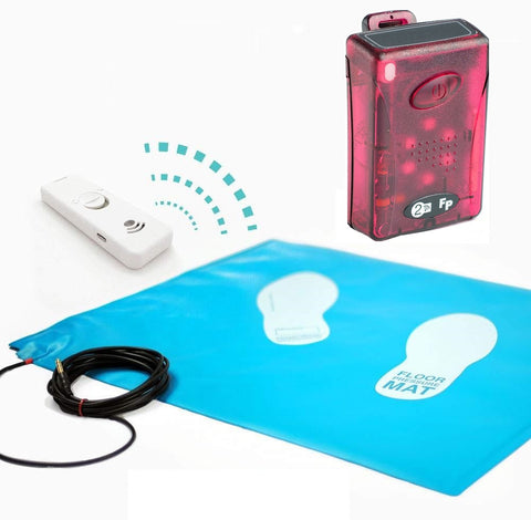 Wireless Floor Pressure Mat & Pager Set - up to 120m range