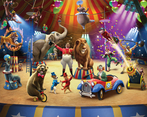 Walltastic The Circus Mural - Childrens Funky Furniture - 1