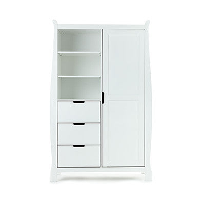 LINCOLN SLEIGH WARDROBE - White / Country Pine / Walnut - Childrens Funky Furniture - 1