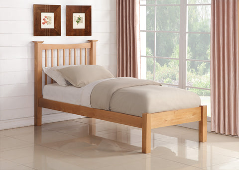 Aston Bed In Oak 3 sizes - Childrens Funky Furniture - 1