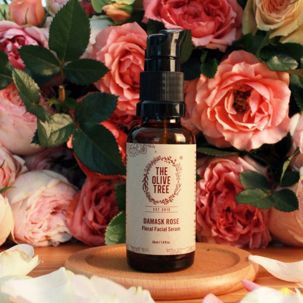 damask rose natural serum for all skin types sensitive skin acne combination eczema psoriasis