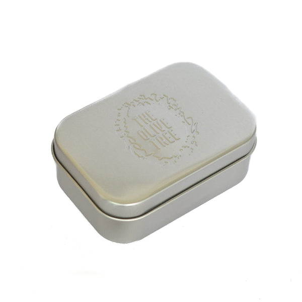 lightweight silver travel soap tin box to store soap during travel
