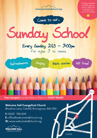 Sunday School Large Format Event Poster