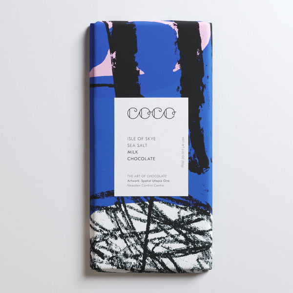Coco Chocolatier Hazelnut & Isle of Skye Sea Salt Milk Chocolate
